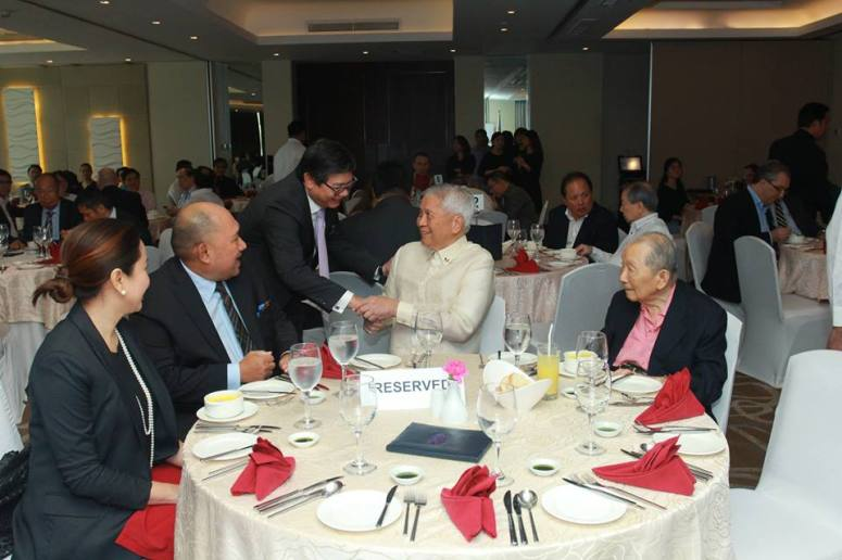 Carol Manhit, Dindo Manhit President of ADRi, Amb. Albert del Rosario Chairman of ADRi, and Mr. Washington Sycip