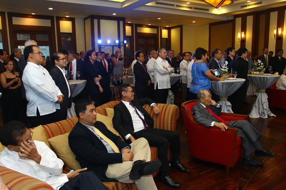 Mr. Washington Sycip as a guest of Stratbase's 10th Year Anniversary and Launch of Albert del Rosario Institute